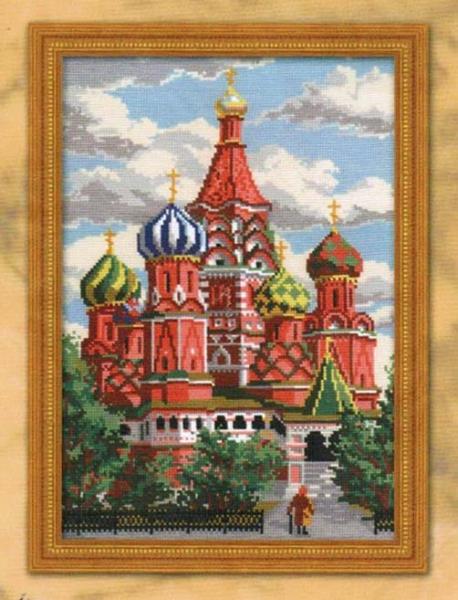 280 (Риолис) Храм Василия Блаженного.  Готовые работы (0). Канва 4.