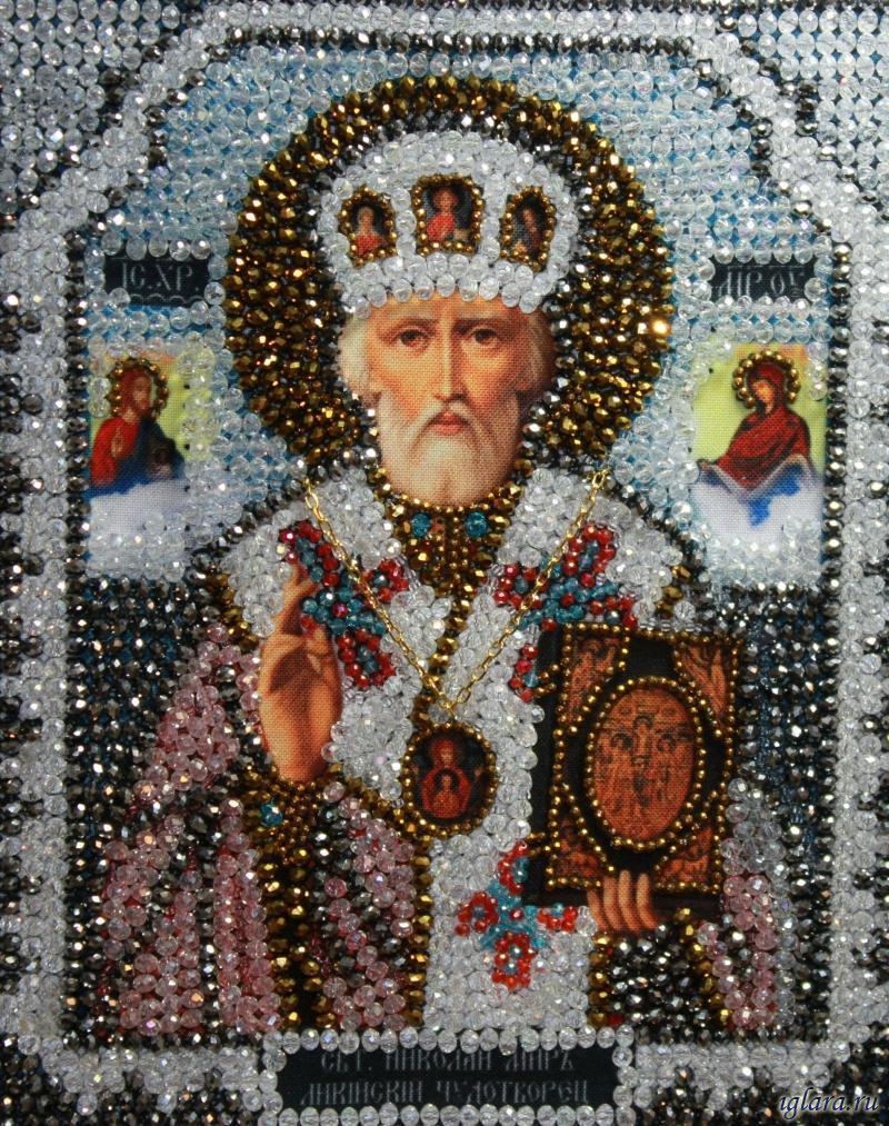 Николай чудотворец вышивка бисером 18