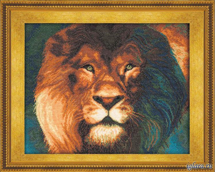 Набор для вышивания крестом львы
