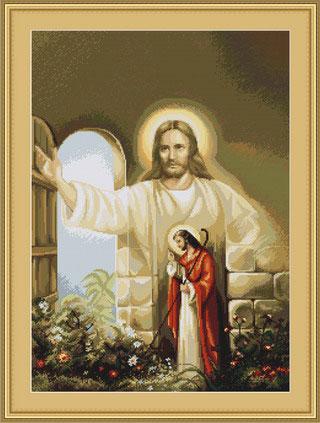 Иисус стучит тихонько в дверь