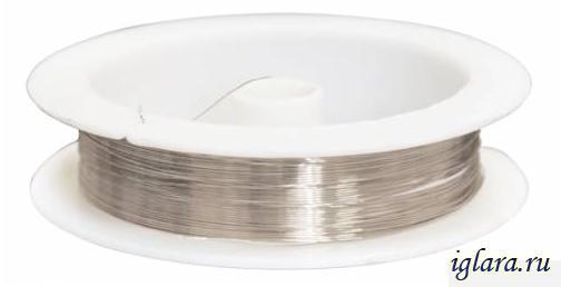 Проволока для бисероплетения d0,3мм*10м золото - Интернет-магазин товаров для рукоделия и творчества 1000busin.