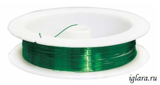 Проволока для бисероплетения d0,3мм*10м зеленый - Интернет-магазин товаров для рукоделия и творчества 1000busin.