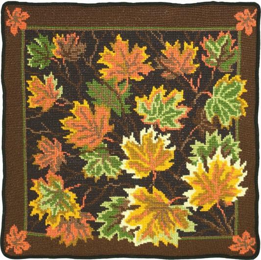 Подушка `Листья клена`