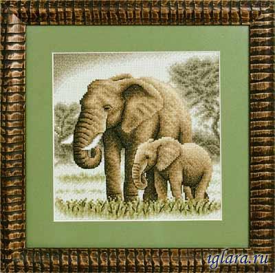 Набор вышивки крестом слонов
