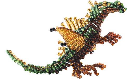 фигурки дракона из бисера со схемой.