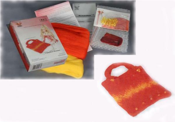 Набор `Модная сумочка с красными бантами` Нажмите чтобы уменьшить.