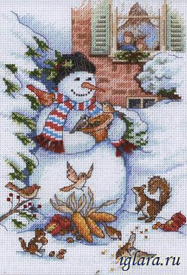 8801/�������� � ������ (Snowman and Friends)