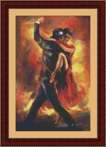 Танго вышивка крестом