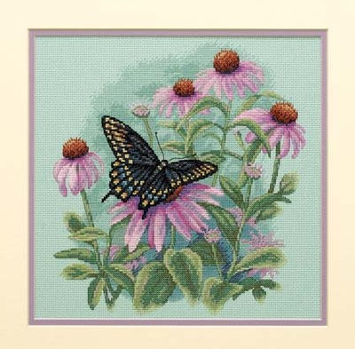 35249/������� � ������� (Butterfly and Daisies)